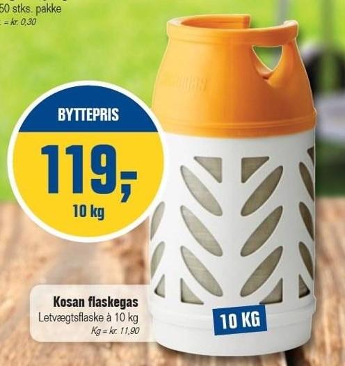 Kosan flaskegas 10 kg