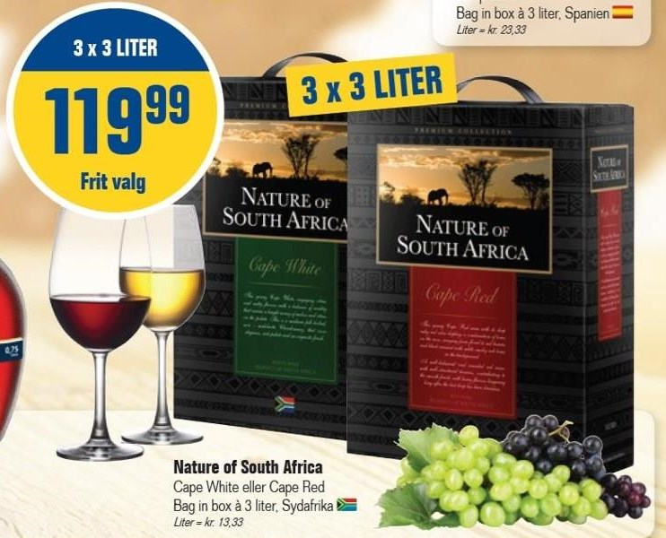Nature of South Africa 3 x 3 liter